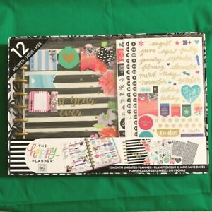 Happy Planner Best Year Ever Undated 12 Month Planner Box Kit Me