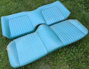 1961 1962 Ford Thunderbird Rear Seat Upper Lower Back Bench Oem Teal Vinyl