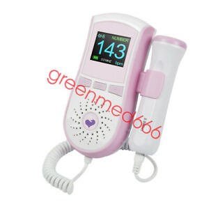 Lcd Fetal Doppler Baby Heart Rate Monitor Fhr 3mhz Safty Probe Pregnancy Fetus