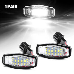 2 X 18 Led License Plate Light Lamp For Acura Tl Rl Tsx Mdx Honda Civic Accord