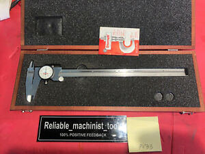 American Made Starrett 12 Inch Dial Caliper Model 120 Machinist Tools p633