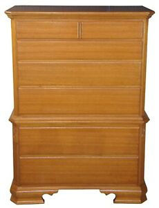 Early American Style Solid Mahogany Chest On Chest Highboy Dresser 40