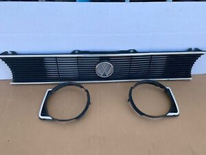 79 93 Vw Mk1 Golf Cabriolet Rabbit Jetta Single Round Head Light Grill Set