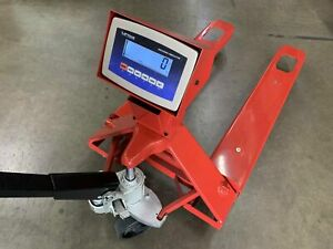 Sl 5000 e Industrial Warehouse Truck Pallet Jack Scale With 5000 Lb X 1lb