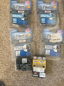 Lot Of 6 Brother P touch Label Maker Tape