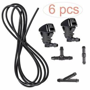 Bingsnow 6 Pcs Windshield Washer Nozzle Squirter For Ford F250 F350 F450 F550
