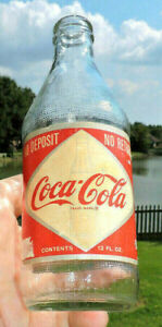 XXX RARE 1960's COCA COLA DIAMOND LABEL NDNR 12 OZ BOTTLE