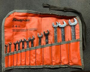 Snap on 11pc 6pt 12pt Sae Midget Combination Wrench Set 1 8 To 9 16 Oxi709sbk