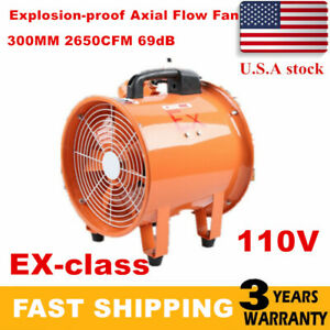 Ex Rated Ventilator Explosion Proof Axial Fan Ignition Resists 12 Inch 2650cfm