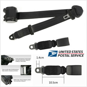 Us Black Polyester Car Adjustable 3 Point Retractable Safety Seat Belt Universal