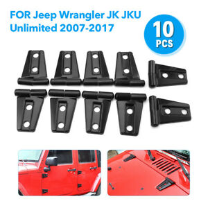 10 X Hood Door Hinge Cover For 2007 2017 Jeep Wrangler Jk Jku Unlimited Parts