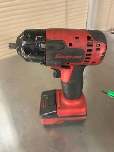 Snap On Ct8810a 3 8 Impact Wrench With Lithium Battery Working No Charger