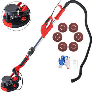 Drywall Sander 750w Foldable 5 Variable Speed Vacuum System W 6 Sanding Pads