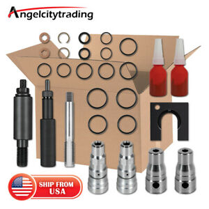 Cylinder Head Repair Kit fuel Injector Sleeve Tool Fit For Ford 6 0l Powerstroke