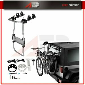 Durable Car Roof Rear Bicycle Carrier Rack Two Bikes Spare Tire Mounted Bike
