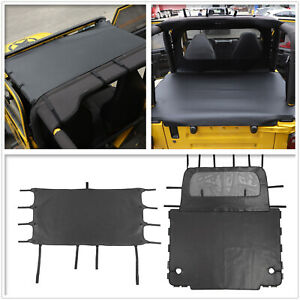 Front Soft Top Sunshade Full Trunk Cargo Cover For 1997 2006 Jeep Wrangler Tj X2