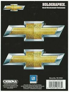 Chevy Bowtie Gold Silver Logo Decal Sticker Sheet Of 2 Holographix Racing
