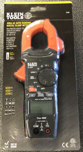 New Klein Tools 400 Amp Ac Auto ranging Digital Clamp Meter Cl220