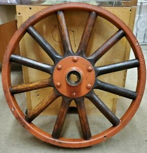 Model T Ford Wood Spoke Wheel With Metal Outer Rim listing 2
