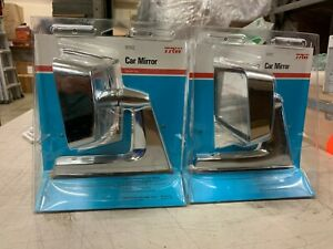 2x Nos Universal Chrome Driver Or Passenger Side View Mirror Muscle Car Hot Rod
