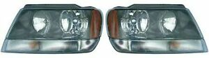 Fits 1999 2001 Jeep Grand Cherokee Headlight Assembly Pair Capa For Ch2502120