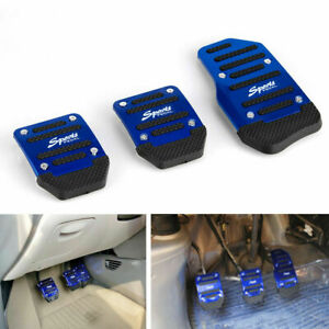 1 Set Durable Universal Blue Pedals Pad Cover Car Interior Decor Car Accessories
