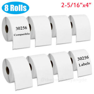 8rolls 2 5 16 x4 Address Shipping Labels For Dymo 30256 Labelwriter 400 450 4xl