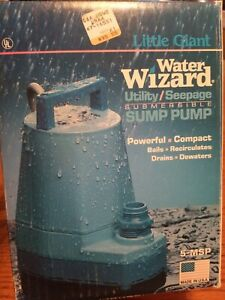 Little Giant Submersible Pump Water Wizard 1250 Gallons hr 5 msp