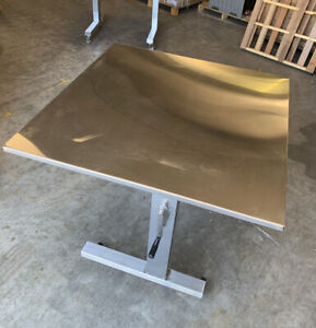 Pedigo Medical Over Operating Table 42 X 42 Stainless Steel Adjustable Height