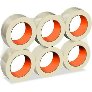 6 Rolls Clear Packing Tape Carton Sealing 1 8 Mil X 2 84 X 110 Yards