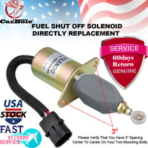 Replacement Fuel Shut Off Solenoid 3 For 5 9l Or 8 3l Cummins Diesel Engine New