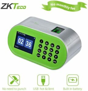 Desktop Fingerprint Time Clock Biometric Attendance Machine For Small Business