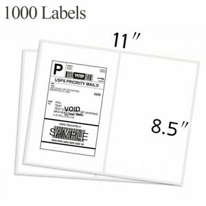 1000 Shipping Labels 8 5x5 5 Half Sheet Blank Self Adhesive Address Round Corner
