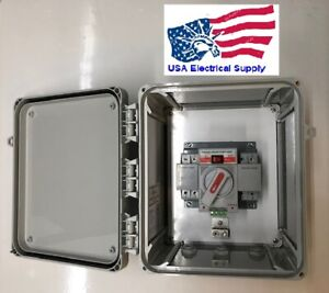 Dual Power Automatic Transfer Switch Ul Enclosure 1 Phase 120 240 Vac 63 Amp