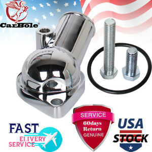 Water Neck Thermostat Housing Small Big Block For Chevy V8 45 Degree 350 454