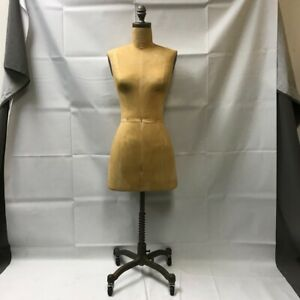 Restoration Hardware Patinaed Dress Form Mannequin W Rolling Stand