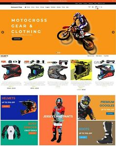 Dropshipping Website For Sale Own A Motocross Ecommerce Website Business