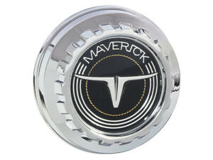 New 1970 77 Maverick Gas Cap Vented Chrome plated Logo And Silver Accents Ford