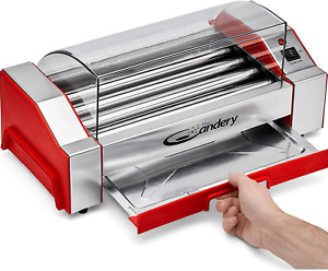 Upgraded Hot Dog Roller Sausage 6 Hot Dog Capacity Grill Cooker Machine Genuine