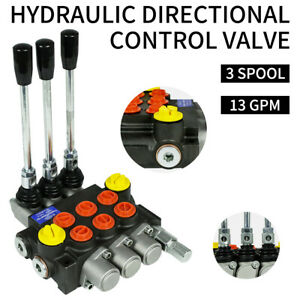 13gpm Hydraulic Directional Control Valve Tractor Loader 3 Spool w Joystick