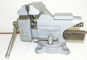 Unused Columbian 4 1 2 Swivel Workshop Bench Vise 4 Jaws Excellent Condition