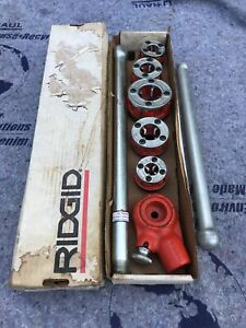Ridgid 36375 Npt Pipe Threader 1 8 1 6 Dies 00 r Head W handle Set Nos