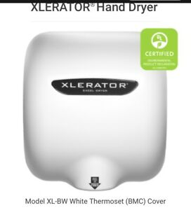 Excel Dryer Xl bw Xlerator Eco Automatic Hand Dryer Quick Dry 120v White