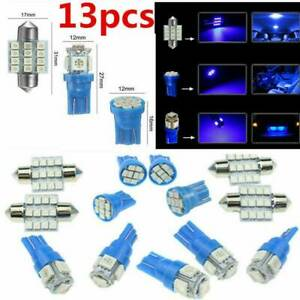 13x Car Interior Led Lights For Dome License Plate Lamp Car Accessories Kit 12v