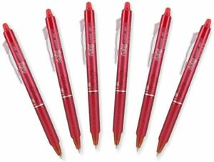 Pilot Frixion Ball 0 7mm Erasable Gel Pens Fine Point Red Ink Pack Of 6
