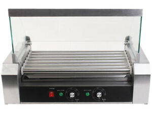 Hot Dog Grill Roller Machine Electric Stainless Steel Sausage Cooker 7 Rollers