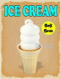 Ice Cream Decal choose Your Size Soft Serve V Food Truck Concession Sticker