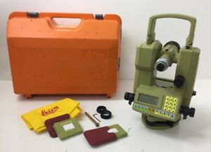 Leica Tc1010 Surveying Station With Case Attachments Bag Memory Cards Tools