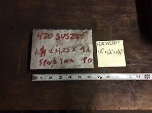 420 Stainless Steel Bar Stock Machine Shop Flat Plate 1 1 4 X 4 1 4 X 6 1 4