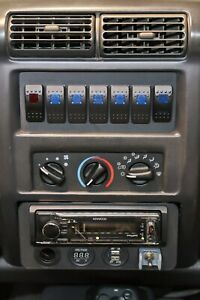 Jeep Wrangler 97 02 Tj Radio Delete Switch Panel Fits 7 Carling Switches